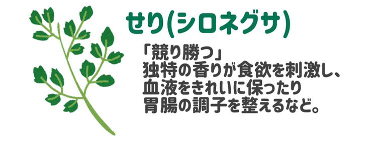 せり シロネグサ 七草