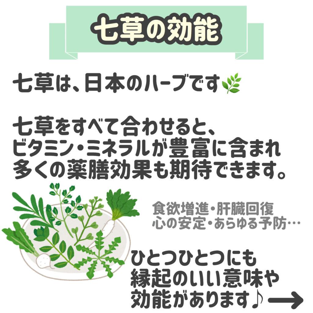 七草の効能