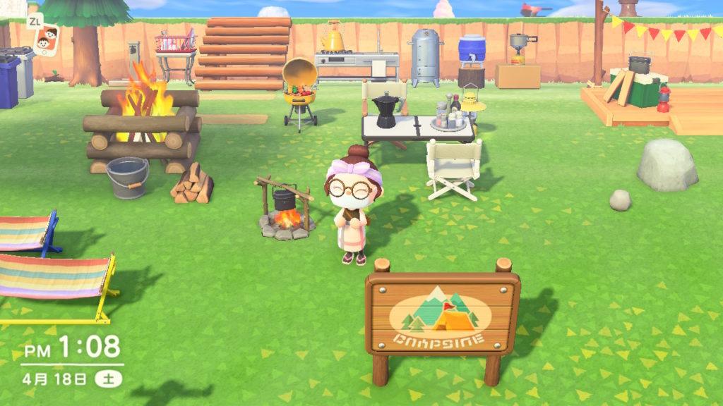 あつまれどうぶつの森キャンプ