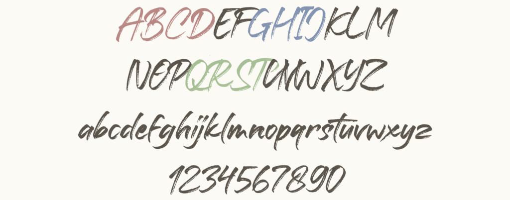 Battaghorse 英字フォント 無料フォント かわいいフォント インスタ投稿 インスタグラム Instagram サムネイル作成 投稿作成