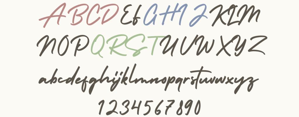 筆記体フォント 無料フォント かわいいフォント インスタ投稿 インスタグラム Instagram サムネイル作成 投稿作成