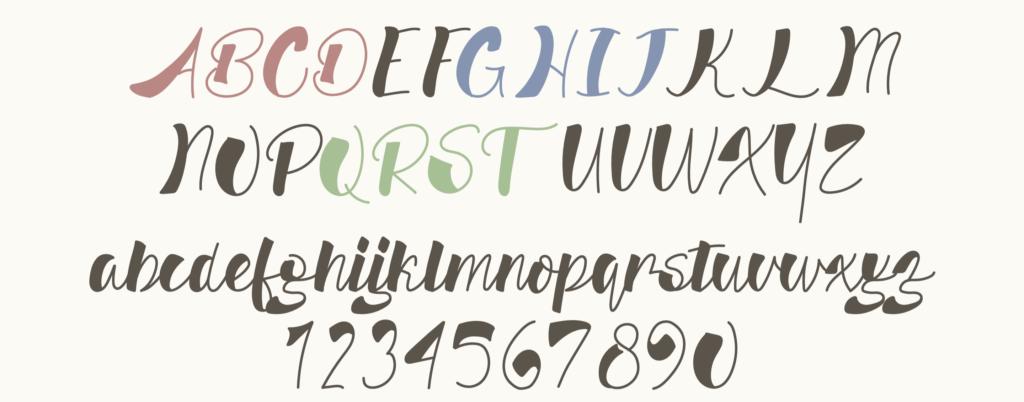 Kangaroo Paw 筆記体フォント 無料フォント かわいいフォント インスタ投稿 インスタグラム Instagram サムネイル作成 投稿作成